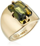 Cole Haan Large Emerald Stone Ring, Size 8