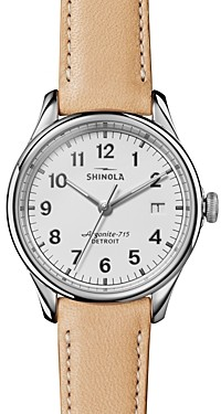Shinola The Vinton Tan Leather Strap Watch, 38mm