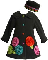 Bonnie Baby Baby-girls Infant Rusched Lowers On Fleece Coat