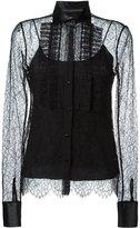 Ermanno Scervino semi sheer lace blouse