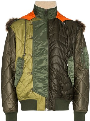 Moschino Panelled Quilted Jacket