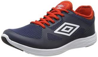 Umbro Men's Velo Competition Running Shoes, Blue (Dark Navy / White / Shocking Orange FSU), (44 EU)