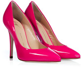Neon Fuchsia Patent Leather Pumps