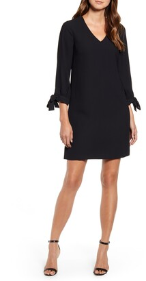 CeCe Tie Sleeve A-Line Dress