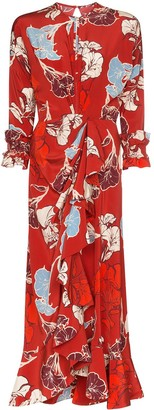 Johanna Ortiz floral print ruffled dress