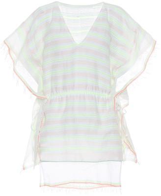 Lemlem Selata striped cotton-blend caftan