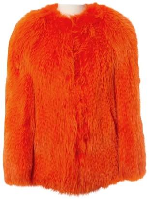 Prada Orange Fur Coats