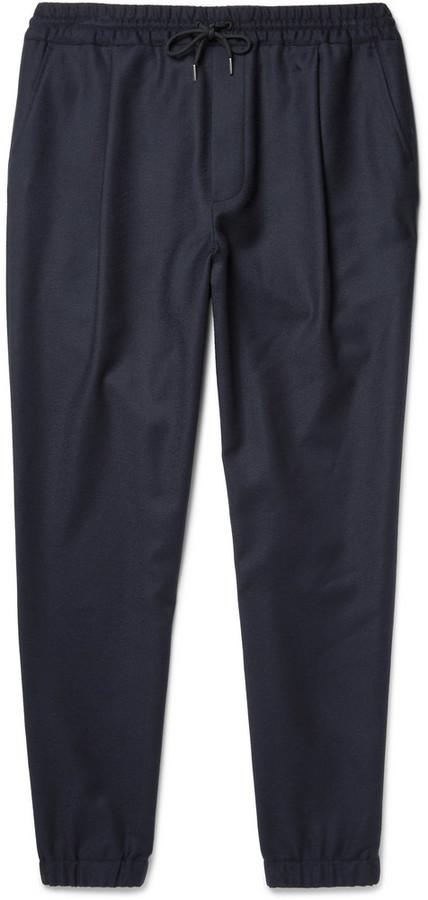 McQ Tapered Stretch-Wool Felt Drawstring Trousers