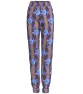 Christopher Kane COTTON PRINT TRACK TROUSERS