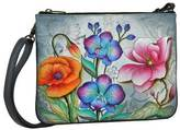 Anuschka Women's Hand Painted Triple Compartment Crossbody