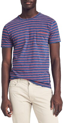 Faherty Breton Stripe Pocket Men's T-Shirt