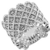 Michela Rhinestone Accented Lattice Ring