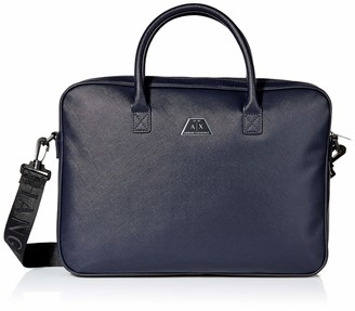 Armani Exchange A|X Men's Geometric Plaque Briefcase