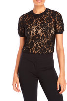 Yumi Short Sleeve Lace Top