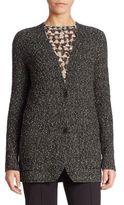 Akris Cotton Boucle Knit Cardigan