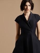 Halston Tuxedo Silk Faille Dress