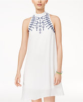Speechless Juniors' Embroidered Shift Dress