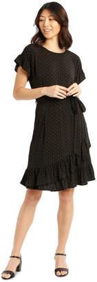 Basque Jersey Ruffle Dress