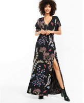 Express floral print surplice maxi dress