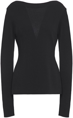 Givenchy Chantilly Lace-paneled Stretch-knit Top