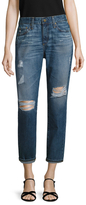 AG Adriano Goldschmied Beau Distressed Ankle Jean