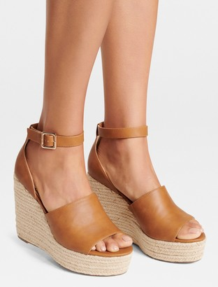 Forever New Nikki Espadrille Wedges - Tan - 36