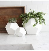 Lulu & Georgia DwellStudio Faceted White Vase