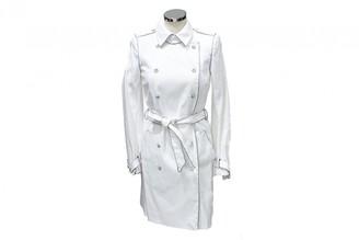 Azzaro White Cotton Trench Coat for Women