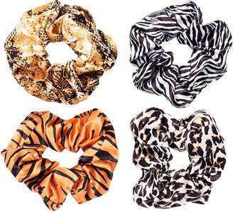 L. Erickson Animal-Print Scrunchies, Set of 6