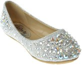 Link Girls Slip on Rhinestone Glitter Fashion Flat Shoes