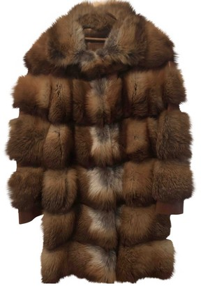 Bally Brown Fox Coat for Women