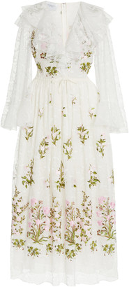 Giambattista Valli Embroidered Floral Tulle Dress