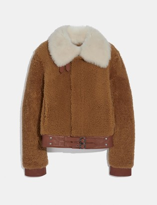 Coach Short Shearling Jacket