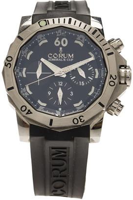 Corum Black Titanium Admiral's Cup Seafender Chronograph Men's Wristwatch 46MM