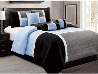 7 Piece Luxury Bed in Bag Comforter Set - Closeout (Queen