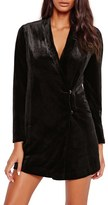 Missguided Women's Velvet Blazer Dress