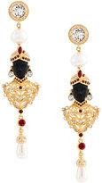 Alberta Ferretti stoned earrings