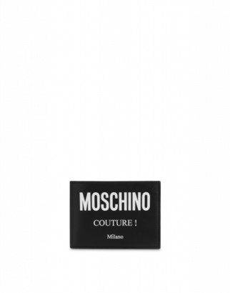 Moschino Couture Leather Wallet Man Black Size U It - (one Size Us)