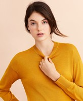 Brooks Brothers Merino Wool Pointelle-Detail Crewneck Sweater