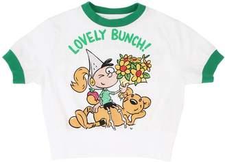Burberry Cartoon Print Cotton Jersey T-Shirt