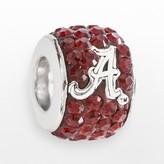 Swarovski Logoart LogoArt Alabama Crimson Tide Sterling Silver Crystal Logo Bead - Made with Crystals