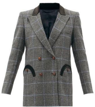 BLAZÉ MILANO Spina Everyday Prince Of Wales-check Blazer - Black Multi