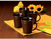 Rachael Ray Double Ridge 4-Piece Mug Set in Brown