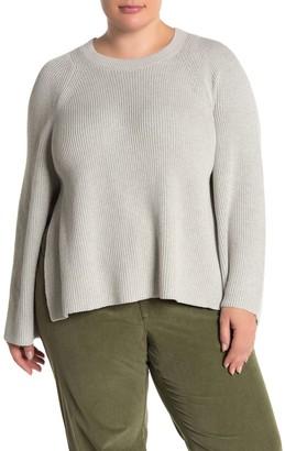 Lafayette 148 New York Ribbed Vented Hem Sweater (Plus Size)
