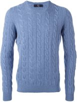 Fay cable knit jumper - men - Viscose/Cashmere/Virgin Wool - 50
