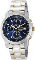 Seiko Men's Two-Tone Stainless Steel Chronograph Dial Watch SNDB05