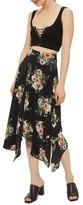 Topshop Women's Floral Midi Skirt