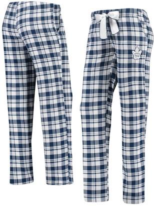 Women's Concepts Sport Navy/White Toronto Maple Leafs Piedmont Flannel Pants
