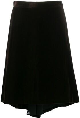 Yves Saint Laurent Pre Owned 1990's Elongated Back Skirt