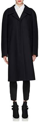 Prada Women's Mink-Fur-Trimmed Wool Coat - Navy